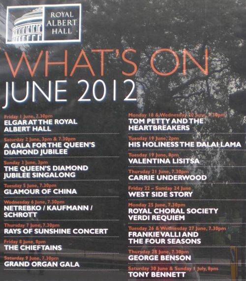 Roayl Albert Hall What's On