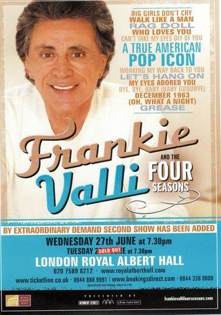 Frankie Valli Flyer