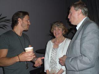 Landon with George and Jackie Ingram