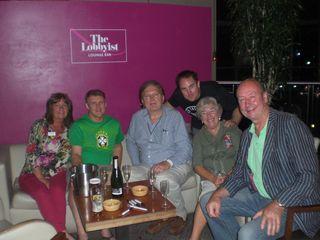 Lynn with Rick, Greg and Craig Birmingham