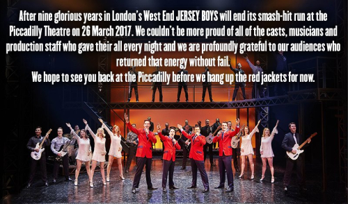 Jersey Boys Final Performance