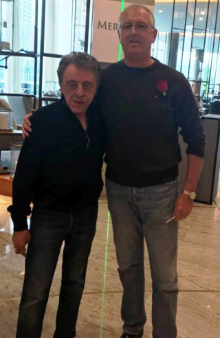 Frankie Valli and Mark Garvey at Hotel