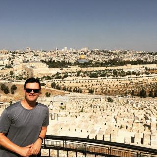 Brian Brigham in Jerusalem