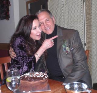 Rhea and Gerry plus cake and quaich
