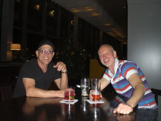 Feibe with Alan at Gibson Hotel, Dublin