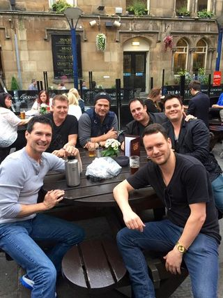 Having a Pint In Manchester - Todd, Rick, Brad,Craig, Brian and Brandon