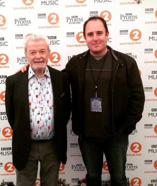 Craig Pilo with James Galloway