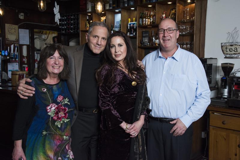 Gerry and Rhea Polci with Lynn Boleyn and Paul Kinnock at Tyneside Tavern