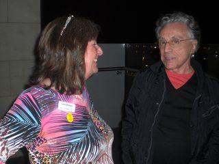 Lynn with Frankie on balcony Gibson Hotel