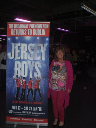 Lynn with Jersey Boys Poster Dublin