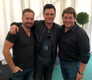 Brian Brigham with Alfie Boe and Michael Ball