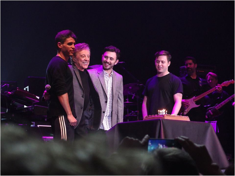 Frankie Valli with Sons and Birthday Cake