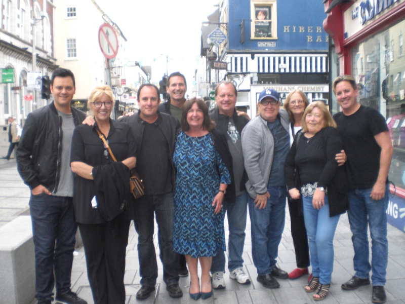Brian  Dawn  Craig  Tod  Lynn  Redford  Robby  Carla  Cath and Keith in Cork 6 July 2017