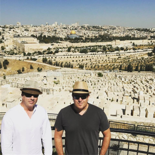 Keith and Craig at Mount of Olives
