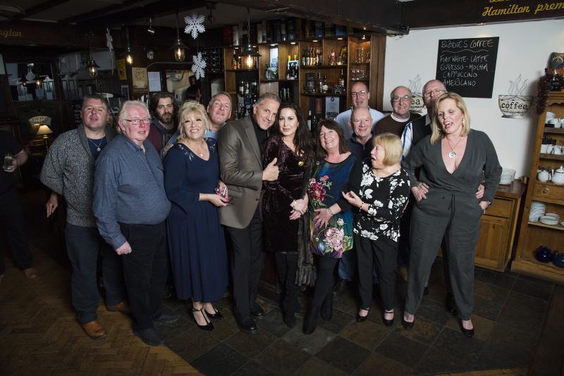 Group at bar at Tyneside Tavern with Gerry and Rhea Polci