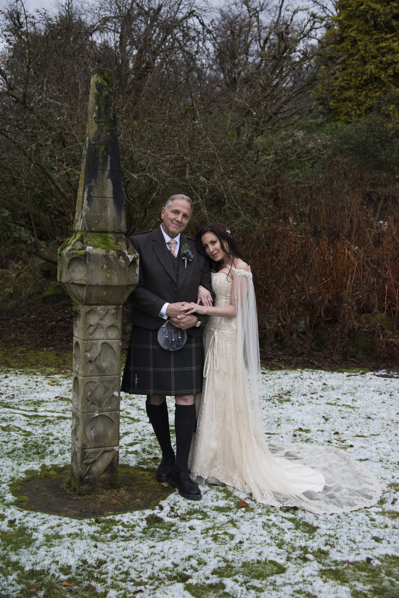 Gerry and Rhea Outside at Cromlix  Dunblane  Scotland