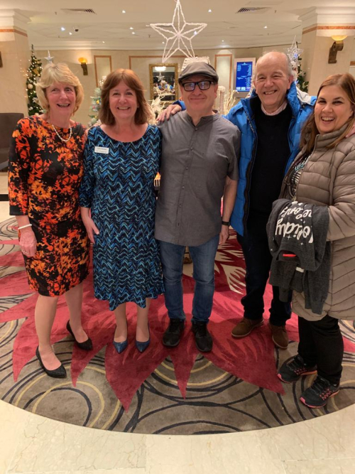 Lynn and her sister Carol with Robby and Carlos and Claudia from Brazil at Birmingham