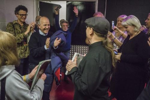 Frankie arriving backstage at MEN