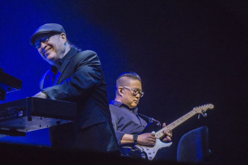 Robby Robinson and Bail Fung on stage at Manchester