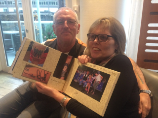 Mark and Alison Garvey with Frankie's book