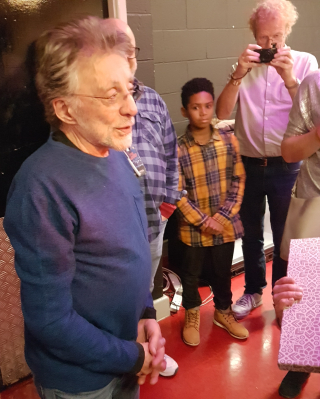 Frankie Valli backstage at MEN Dec 2018
