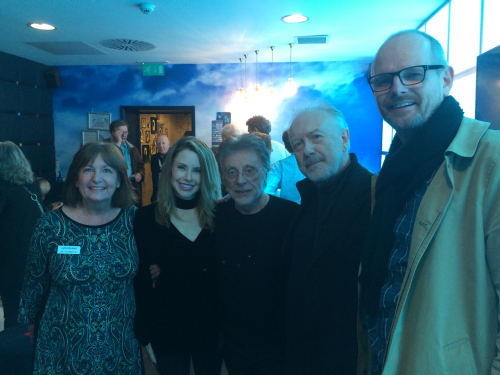 Lynn Boleyn  Jackie Jacobs  Frankie Valli with Bob Fisher and Ian Crockett from Snapper Records