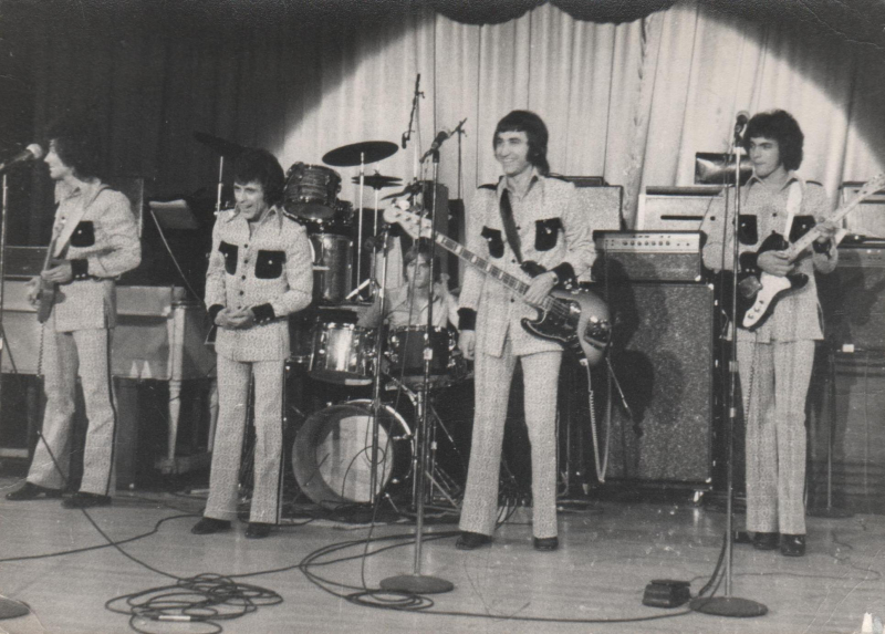 Sheffield UK 1972 Joe  Demetri  Clay  Frankie  Paul Wilson on drums 001